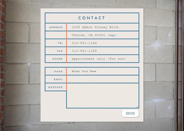 Web form on Aran Cravey