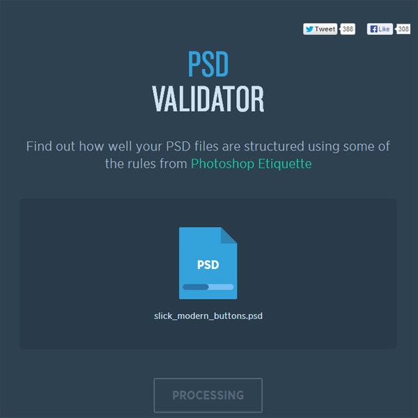 PSD Validator - processing
