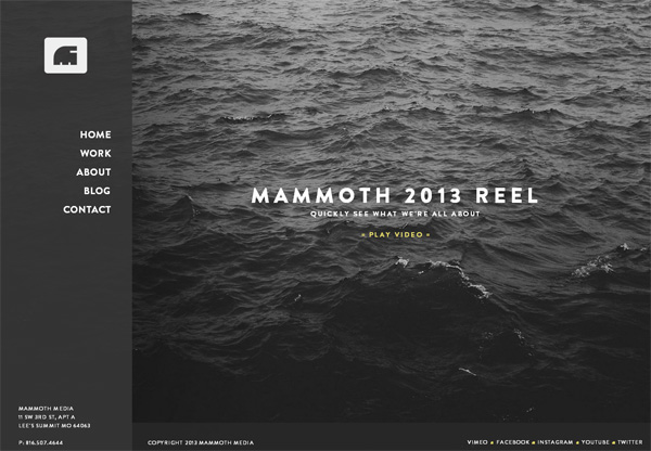 Dark web design example: Mammoth Media