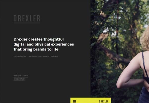 Dark web design example: Drexler