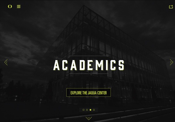 Dark web design example: Football HQ