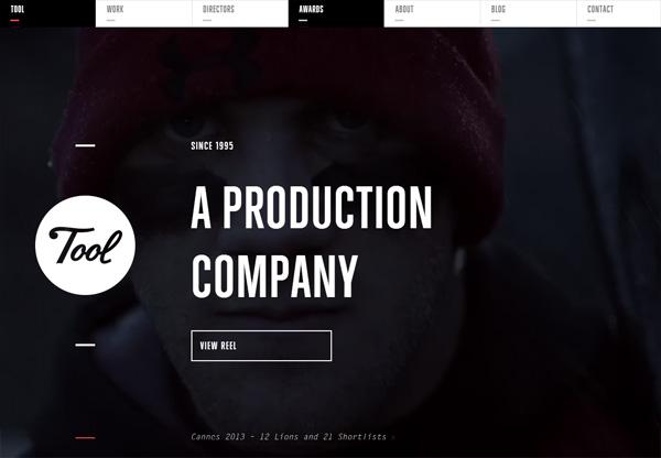 Dark web design example: Tool of North America