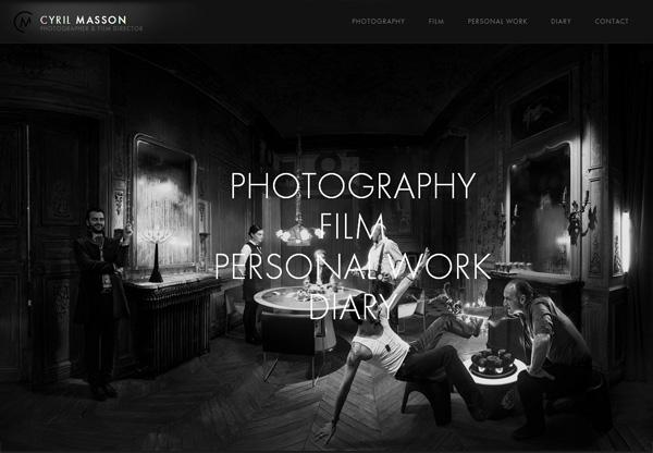 Dark web design example: Cyril Masson