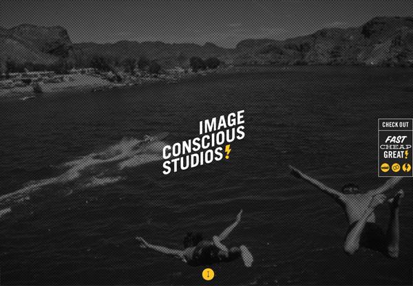 Dark web design example: Image Conscious Studios