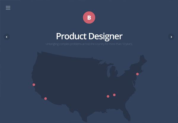 Dark web design example: Brad Haynes