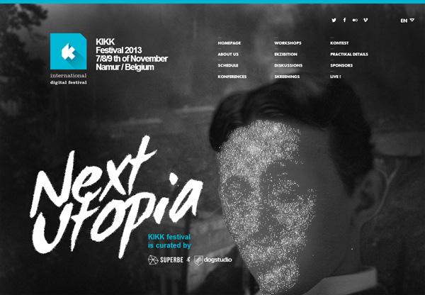 Dark web design example: Kikk