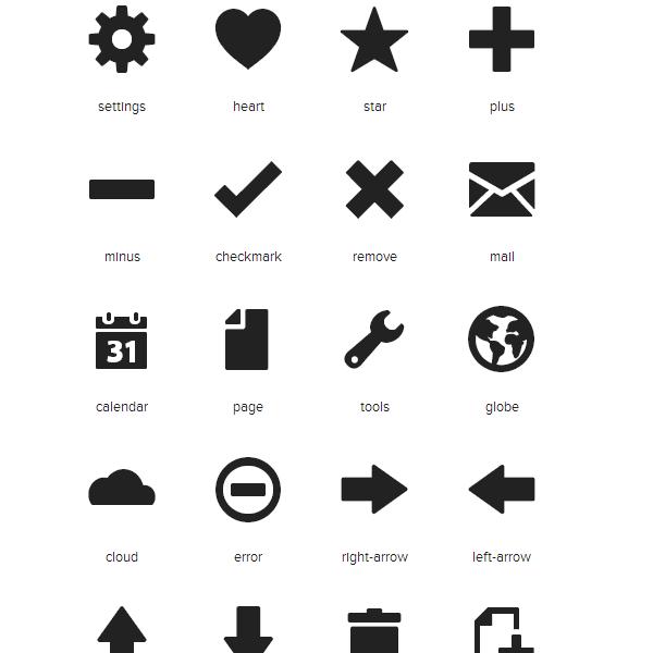 Foundation Icons