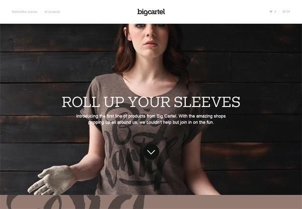 Online shop example: Big Cartel Shop