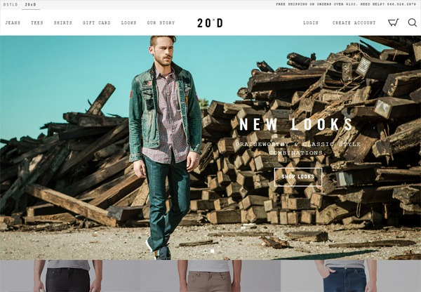 Online shop example: 20Jeans