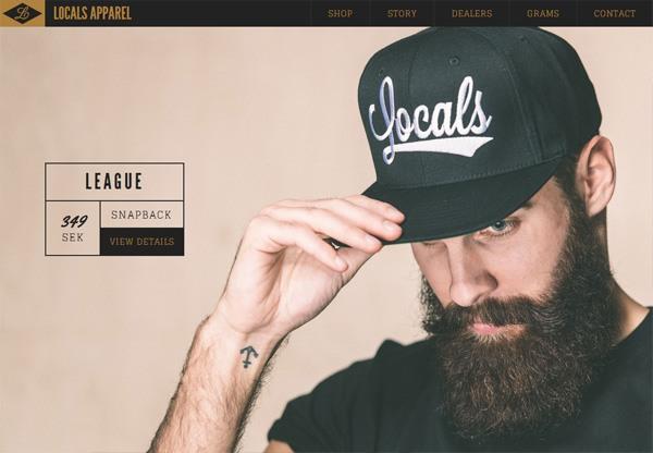 Online shop example: Locals Apparel