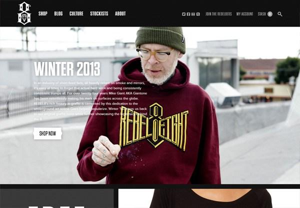 Online shop example: REBEL8