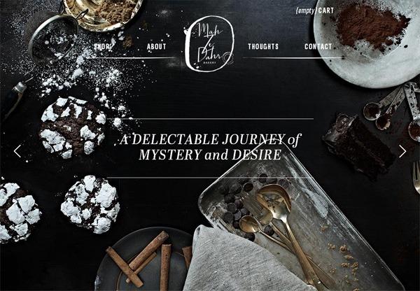 Online shop example: Mah Ze Dahr Bakery