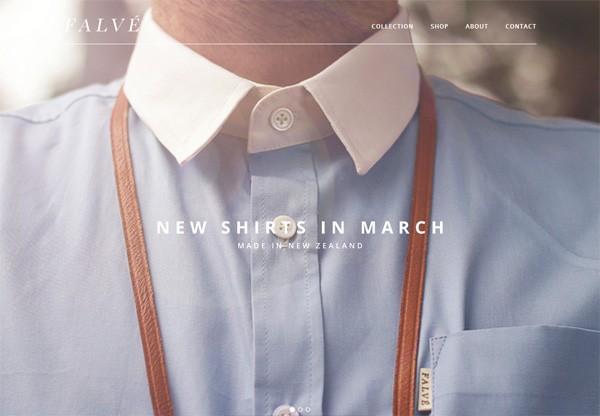 Online shop example: FALVÉ