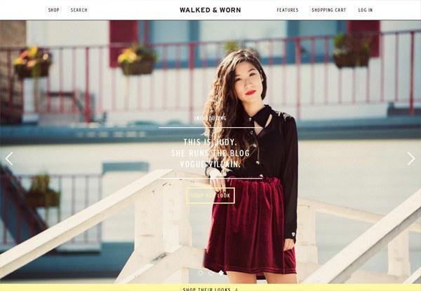 Online shop example: Walked & Worn