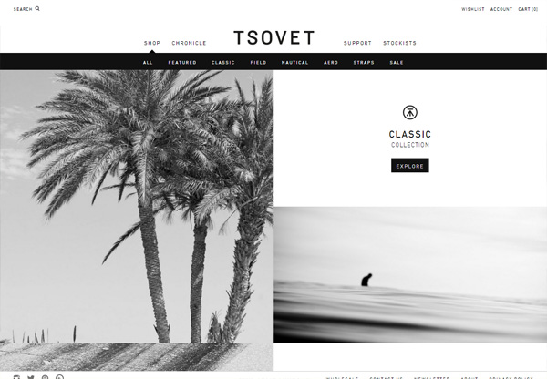 Online shop example: Tsovet