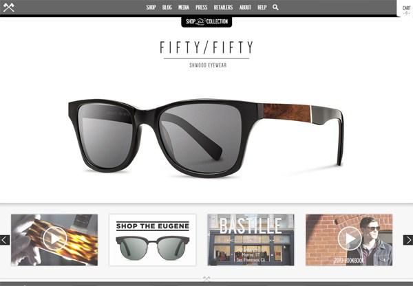 Online shop example: Shwood