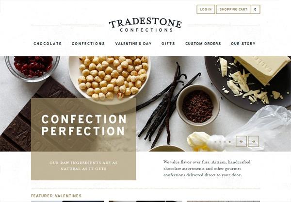 Online shop example: Tradestone Confections
