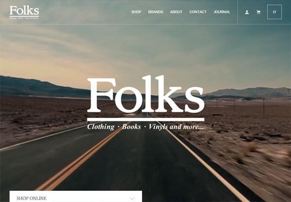 Online shop example: Folks Verona