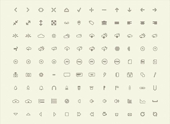 40 Free High-Quality Line Icon Sets