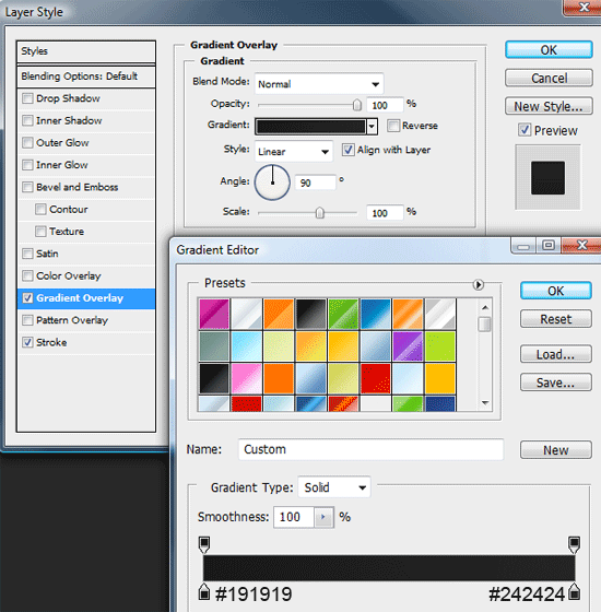 Creating the second navigation menu