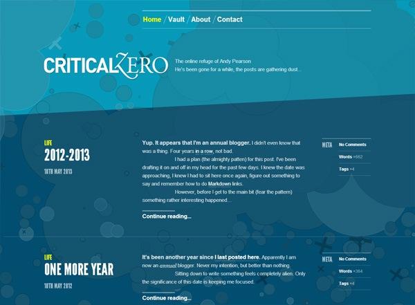 Critical Zero