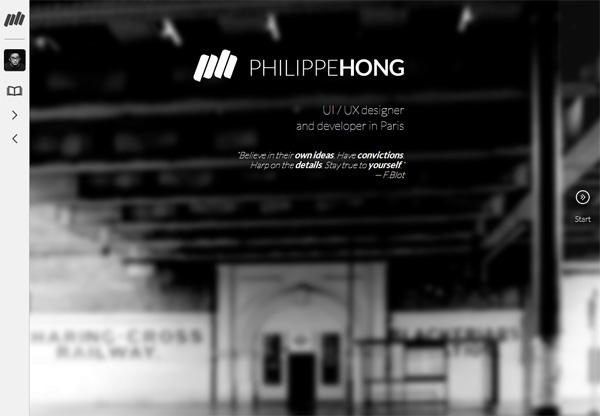 Portfolio design of Philippe Hong