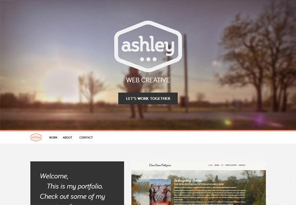 Portfolio design of Ashley Farrand