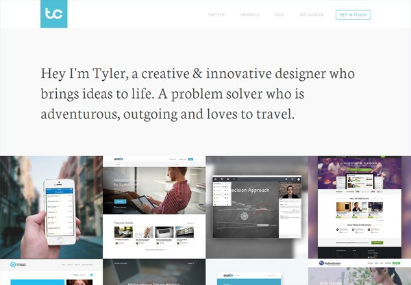Portfolio design of Tyler Copeland