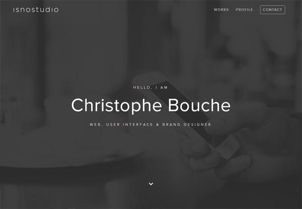 Portfolio design of Christophe Bouche