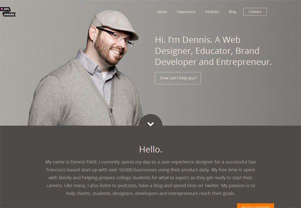 Portfolio design of Dennis Field