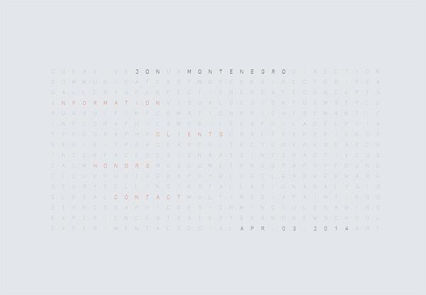 Minimalist design: Jon Montenegro
