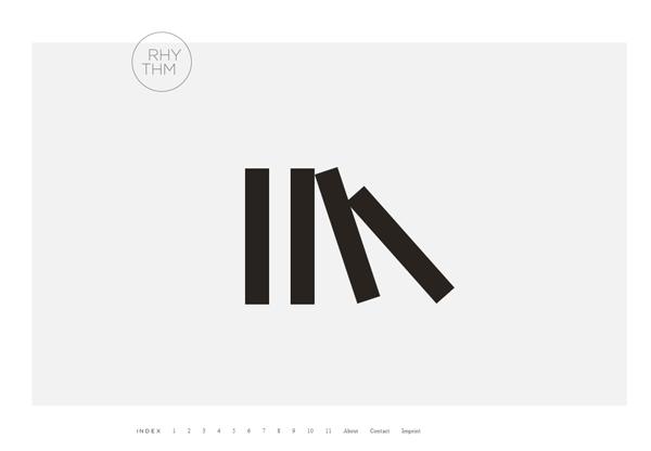 Minimalist design: Rhythm Design Studies