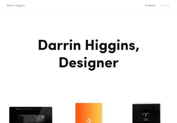 Minimalist design: Darrin Higgins