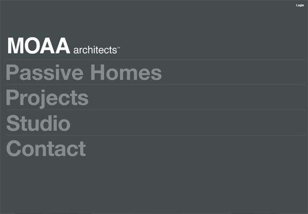 Minimalist design: MOAA Architects