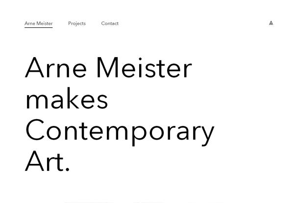 Minimalist design: Arne Meister Contemporary Art
