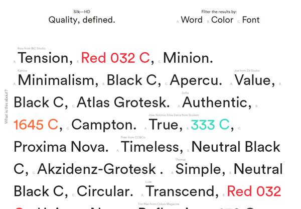Minimalist design: Quality, Defined