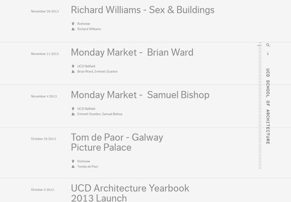 Minimalist design: UCD School of Architecture Timeline