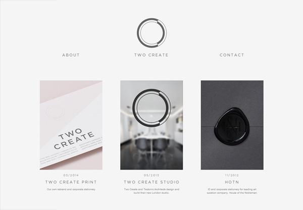 Minimalist design: Two Create