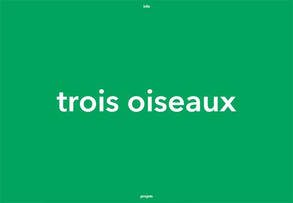 Minimalist design: Trois Oiseaux