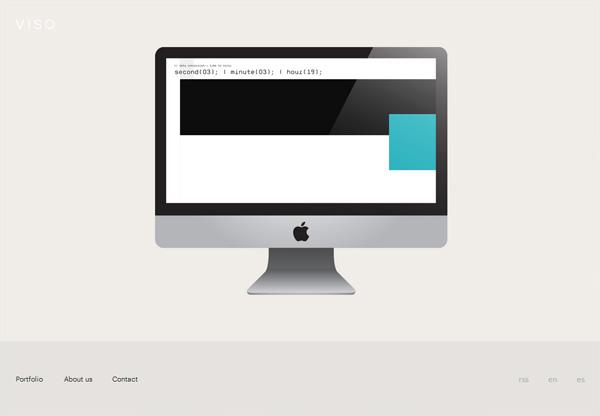 Minimalist design: Viso Estudio