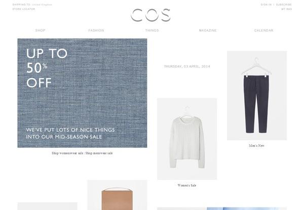 Minimalist design: COS