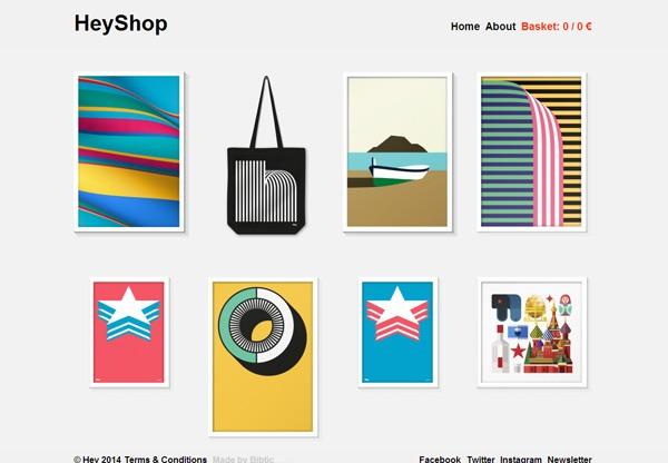 Minimalist design: HeyShop