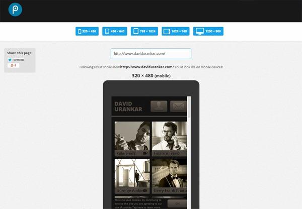 Responsive Web Design Testing Tool by pixeltuner.de