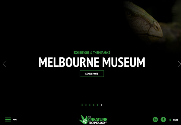 Dark website design inspiration: The Creature Technology Company