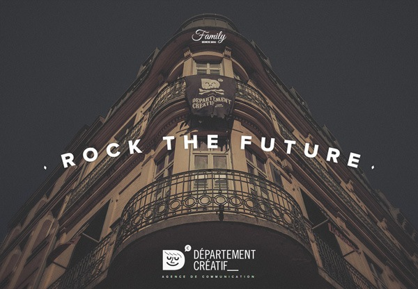 Dark website design inspiration: Département Créatif