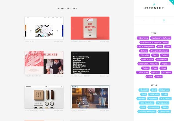 Web Design Gallery: httpster
