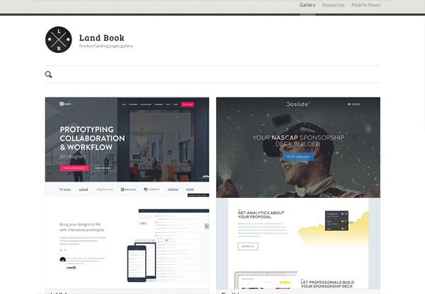Web Design Gallery: Land Book