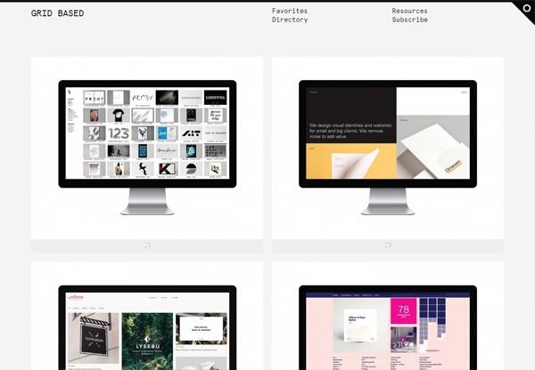 Web Design Gallery: Grid Based