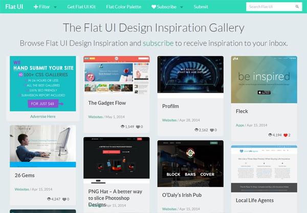 Web Design Gallery: Flat UI