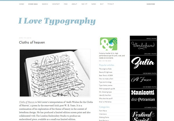 I Love Typography